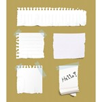 5 Ripped Paper Notes [PSD File]