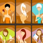 7 Beauty Girls Graphics Vector Art