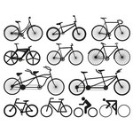 Bicycle Silhouette Vectors [EPS File]