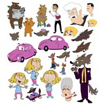Cartoon Story Vector Pack [EPS File]
