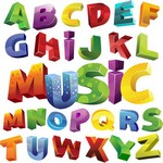 Colorful 3D Alphabet Vector Art