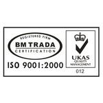 ISO 9001:2000 BM TRADA Logo