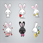 Rabbits llustration Vector Art