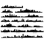 City Skyline Silhouette 02