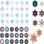 Various Snowflake Vector Art