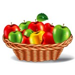 Apple Plate Vector Art