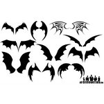Bat Wings Silhouette Vectors [EPS-AI-SVG Files]
