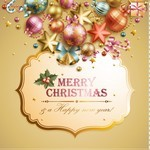 Christmas elements background material 02