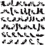 Beauty Fashion Shoes Silhouettes [EPS File]