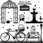 Black & White Park Elements [EPS File]
