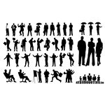 Business People Silhouettes 03