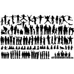 60 Children Kids Teens Silhouettes