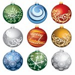 Christmas Ornament Balls Vector Art