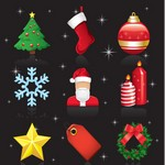 Christmas Ornaments Vector Set