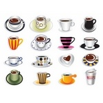Coffee Cup Sets [EPS File]