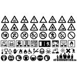 Danger Sign Silhouettes