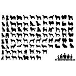 80 Dogs Silhouettes