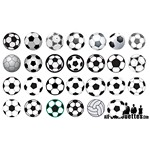 Soccer Ball Silhouettes