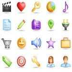 20 Semi-transparent Icons & 48 derivatives [PNG File]