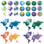 Free Vector Globes and Maps