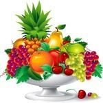 Fruit Plate Vector Art