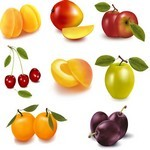 Orange Apple Apricot Cherry Plum Png Images