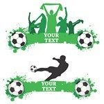 Green Football Banners Vector