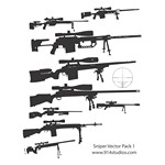 Gun Vector Sniper Rifle Pack