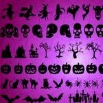 Halloween, Skull Silhouettes