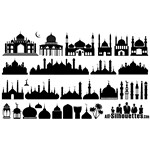 Islamic Mosque Silhouettes