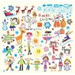 Hand-Painted Children's Vector 02