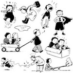 Cartoon Children, Kids, People 01