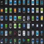 Mobile Device Icons [PNG File]