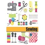Needlework vector material