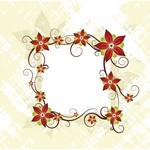 Flower, Frame, Card