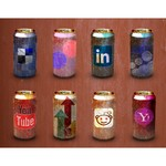 Worn-Out Soda Cans Social Media Icon Pack 200×200 [PNG-PSD Files]
