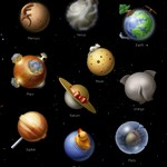 Solar System Icons 128×128 (10 PNG-ICO-BIN File)