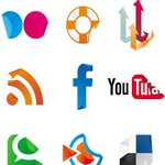Social Icons Sticker Set 1