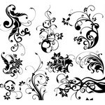 Swirly Floral Vector