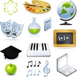 Teaching Icons Vectors 01