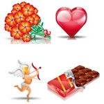 Valentine's Day Icon Set [512×512 PNG File]