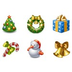 Xmas Icons 96×96 (6 PNG-ICO File)