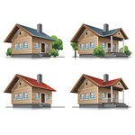 3D House PNG Images