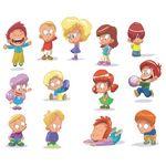 Cartoon Children, Kids, People 03