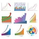 Statistic, Chart, Line Graph, Flow Diagram Symbols 02