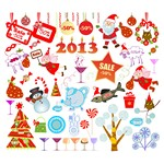 Christmas Cartoon Elements [EPS File]