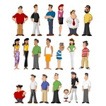 People Characters Illustrations [EPS File]