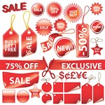 Red Decorative Label Graphics