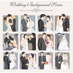 Wedding Backgrounds Illustrator [EPS File]
