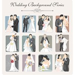 Wedding Backgrounds Illustrator 02